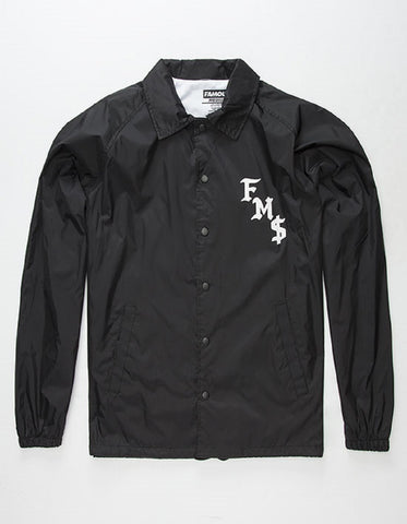 Famous Men's Sickstep Coaches Jacket Black FM01170046