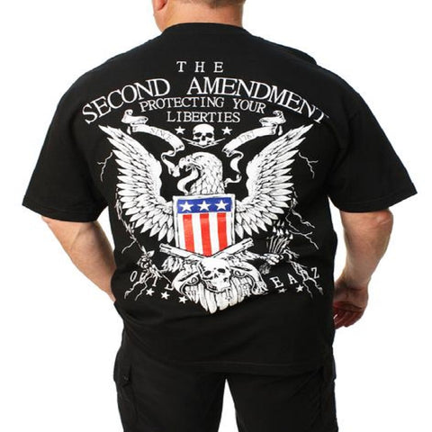 OutLaw 2nd Amendment Men's Tee Shirt Black MT101 - Left Coast Threads