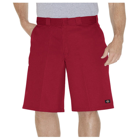 "Dickies 13"" Loose Fit Multi-Pocket Work Short English Red 42283ER - Left Coast Threads"