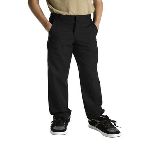 Dickies Boy's Flat Front Pants Black 56062BK - Left Coast Threads