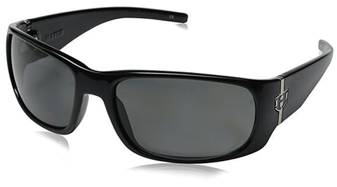 Hoven Match Gloss Black on Black Sunglasses 44-9902 Grey Polarized