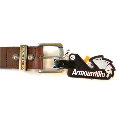 Armourdillo Men's Leather Belt Brown ADB256