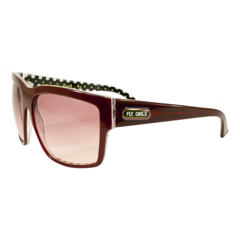 Black Flys Free Flying Sunglasses Shiny Burgundy - Left Coast Threads