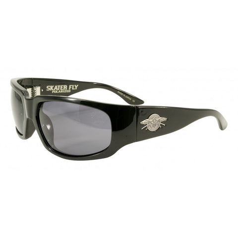 Black Flys Skater Fly Sunglasses Shiny Black - Left Coast Threads