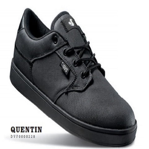 DVS Mens Quentin Black Wax Canvas Leather Shoes DVF0000228-015