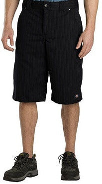 "Dickies 13"" Regular Fit Stripe Black Shorts Quality Work Wear WR878BK - Left Coast Threads"