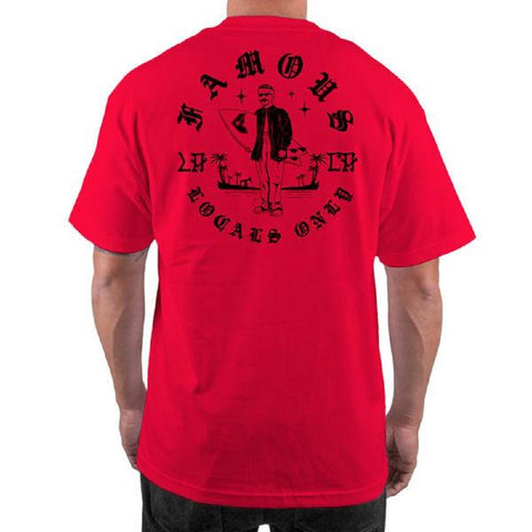 Famous Stars and Straps Men's Surf Club Tee Shirt Red FM02170031R - Left Coast Threads