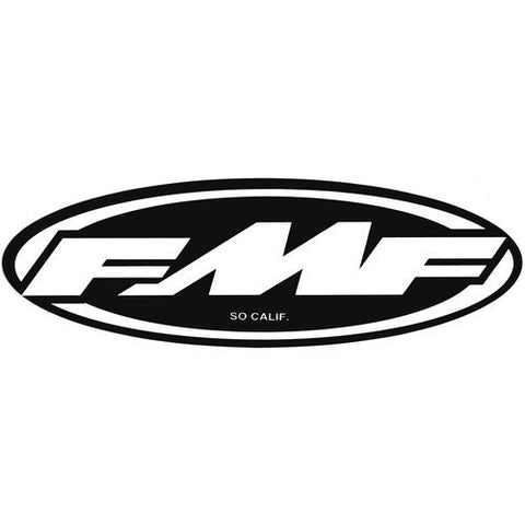 FMF Racing 8 Inch Corp Sticker Decal F12189103 Black