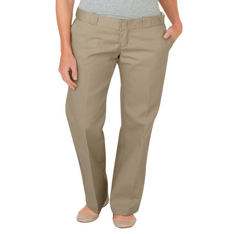 Dickies Womens Original Fit Work Pants Khaki FP774KH - Left Coast Threads