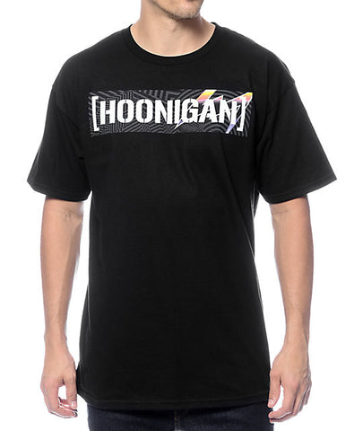 Hoonigan Pantone Censor Bar Tee HM21OPOCB Black - Left Coast Threads