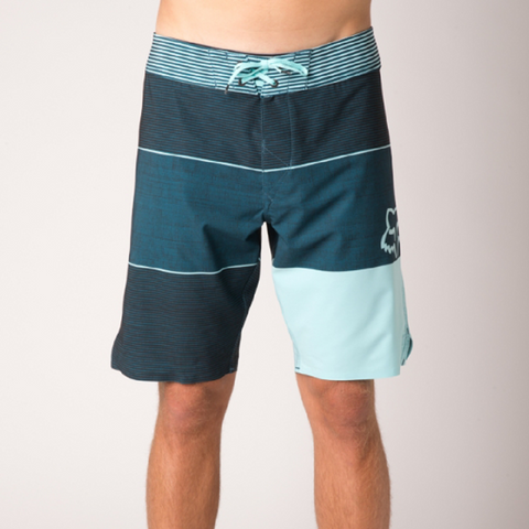 Fox Horizon Men's Board Shorts Ice Blue & Navy 13124-231-38 - Left Coast Threads