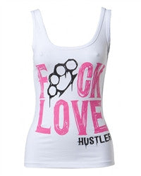 Hustler Womens F Love Tank - White WT3082 - Left Coast Threads
