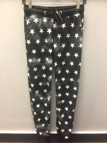 Riflessi Flag Jog Pant W/Stars with stars print on the joggers Black