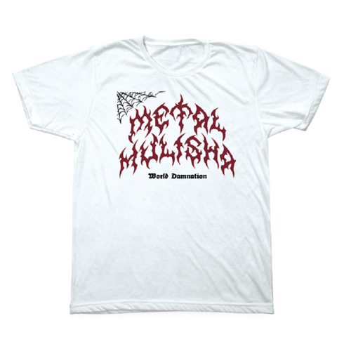 Metal Mulisha Mens Webs Tee Shirt White MM4751808
