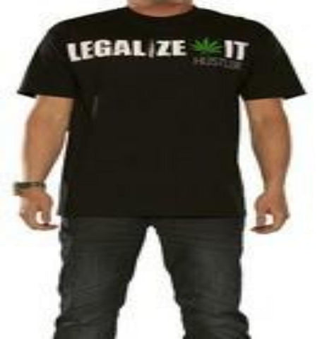 Hustler Clothing Legalize It Mens Black Shirt MR1364