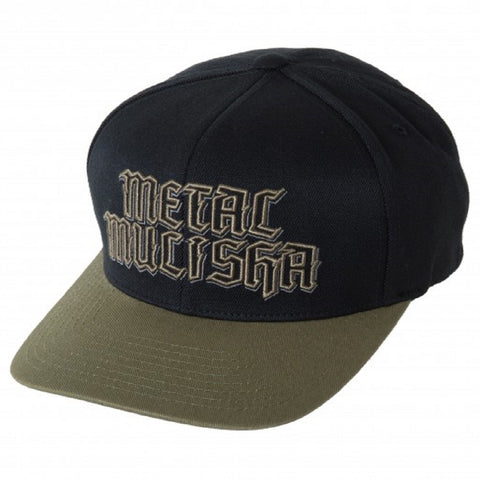 Metal Mulisha Mens Standard Curved Flexfit Hat Green & Black SP7596006-GRN