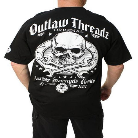 Outlaw Threadz Original Outlaw Men's Tee Shirt Black MT113 - Left Coast Threads