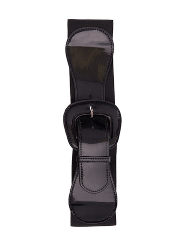 Steady Clothing Wide Elastic Belt Black