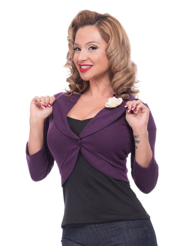 Steady Clothing Women's Rose Marilyn Sweater Eggplant RS54228X