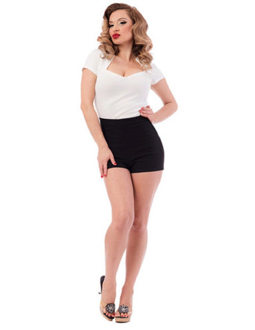 Steady Clothing Women's Bombshell High Waist Shorts Black RS65440