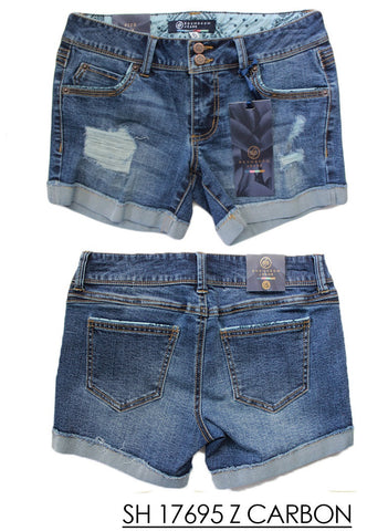Boom Boom Women's Shorts 5 pocket Single Roll Cuff SH17695Z Denim