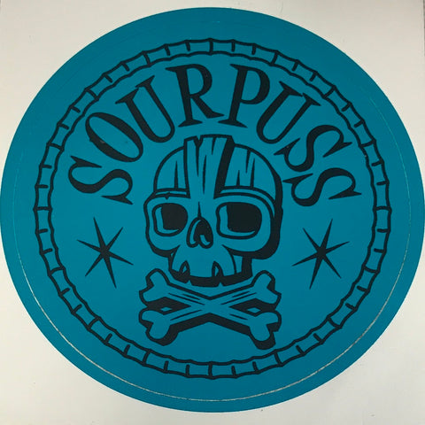 Sourpuss Turquoise Skull Sticker SP-1234
