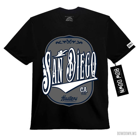 Bow Down Men's San Diego Hustler Heavy Shirt Black SD760 - Left Coast Threads