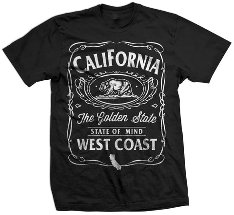 East Co State Of Mind Mens Tee Shirt Black