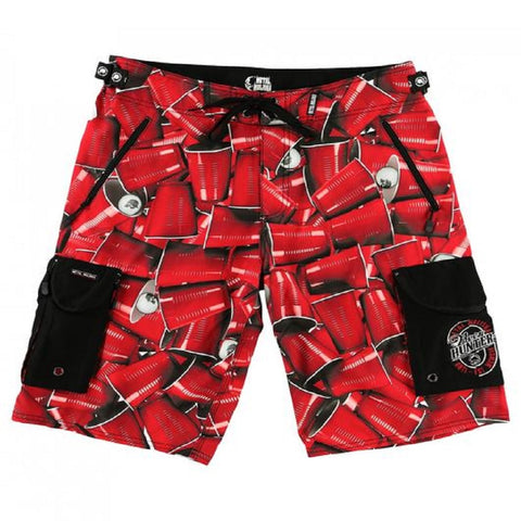 Metal Mulisha Cups D-Lush Boardshorts Red SP7506008 - Left Coast Threads
