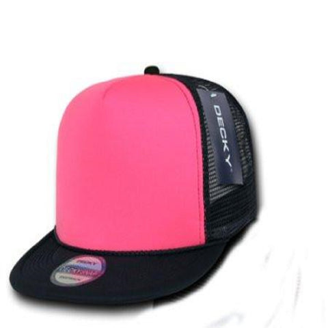 Decky Women's Black With Hot Pink Trucker Hat - Left Coast Threads