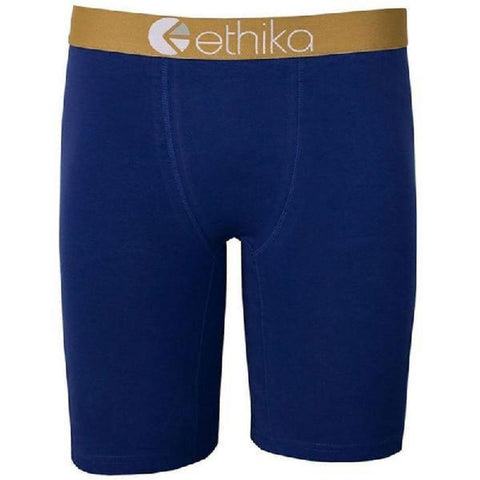 Ethika Mens Staple Fit Boxer Brief Blue UMS249-BLU - Left Coast Threads