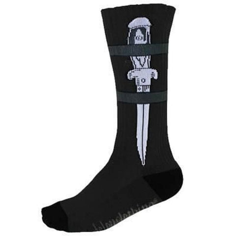 Felon Clothing Men's Dagger Sock FAMS105DR Black
