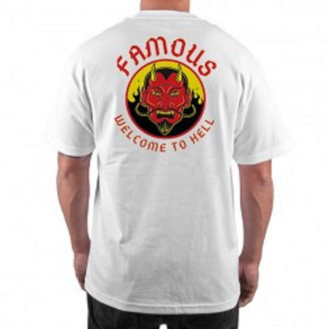 Famous Men's Welcome To Hell Tee White FM01170059 - Left Coast Threads