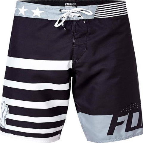 Fox Red White And True Mens Black Boardshorts 16970-001 - Left Coast Threads