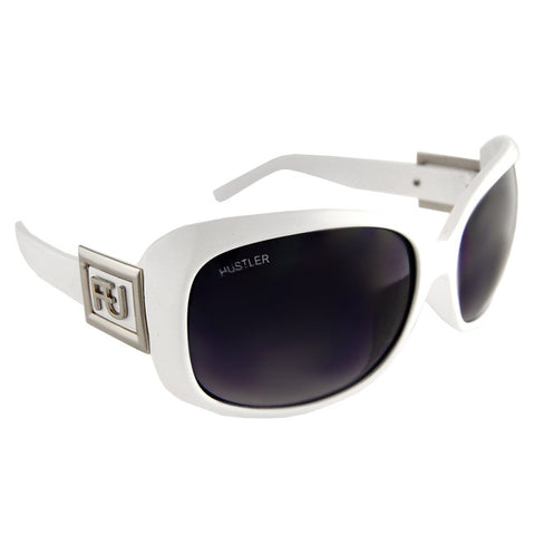 Hustler Clothing FU Womens White Sunglasses