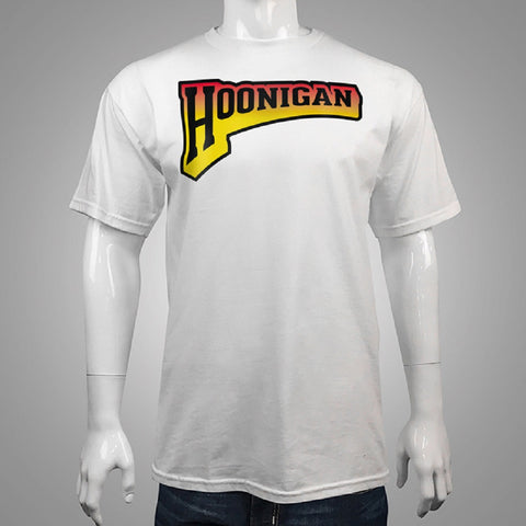 Hoonigan Men's Quarter Panel Tee White HM210QTPL - Left Coast Threads