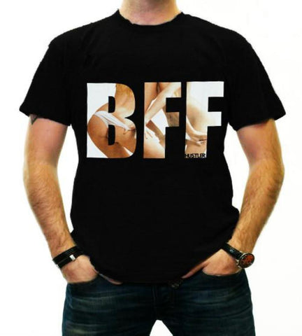 Hustler Clothing Men's BFF Black Tee