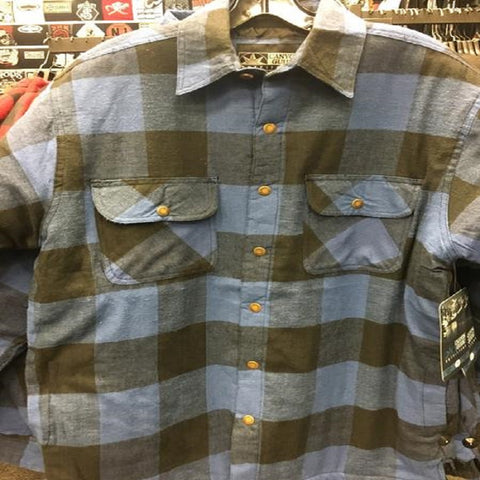 Canyon Guide Mens Lumberjack Flannel Blue/Black 43745-604-CS - Left Coast Threads