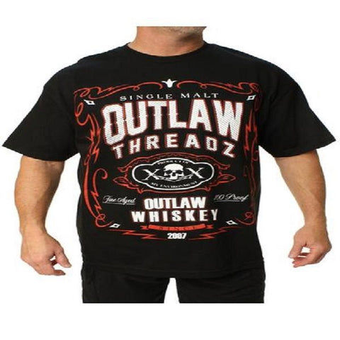 Outlaw Threadz Whiskey Men's Tee Shirt Black MT127 - Left Coast Threads