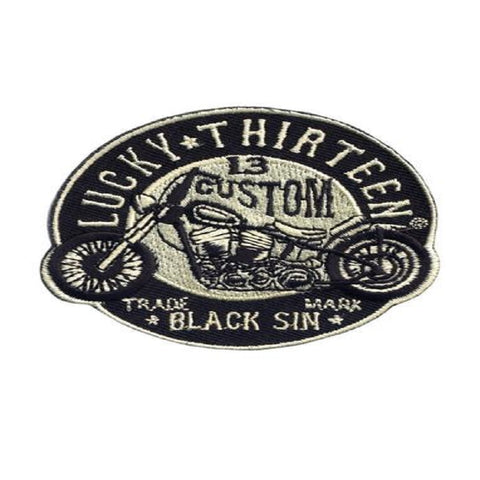 Lucky 13 Men's The Black Sin Embroidered Patch OSFA Black LAPA150BS