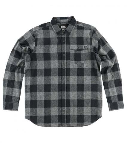 Metal Mulisha Explicit Mens Heather Grey Flannel FA6504000