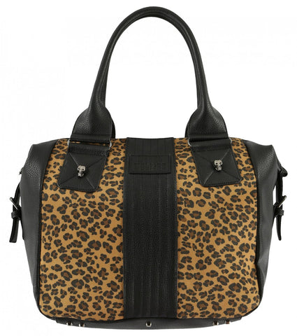 Metal Mulisha Outlaw Black Bag with Leopard Print