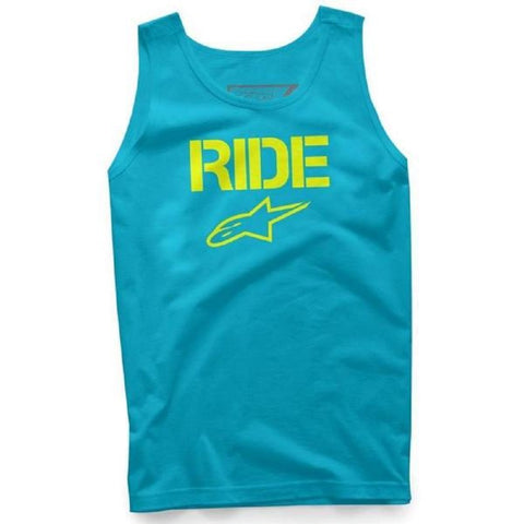 Alpinestars Ride Solid Mens Carolina Blue With Yellow Tank Top 1016-72029 - Left Coast Threads