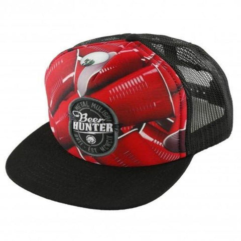 Metal Mulisha Run Trucker Hat Red
