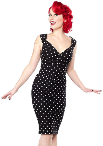 Steady Polka Dot Diva Dress Black RS77115