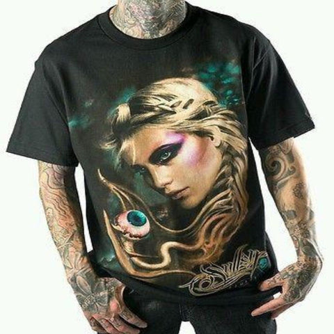 Sullen Remember 2 Mens Black Tee Shirt Tattoo Art T-Shirt