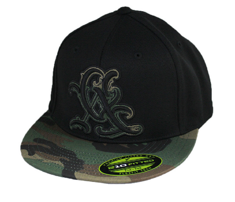 Sullen Resort Camo Hat Black CA Cali