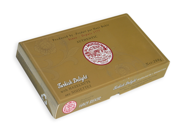 200g Turkish Delight with Hazelnut