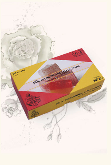 200g Turkish Delight - Rose & Lemon Flavoured