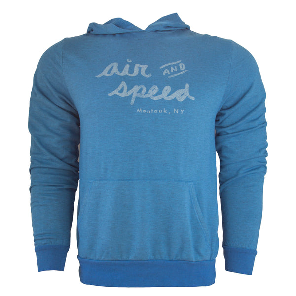BOAT SCRIPT PULL OVER HOODIE - Riviera Blue